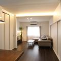 横須賀市:築40年戸建住宅:間接照明を使った素敵なLDK